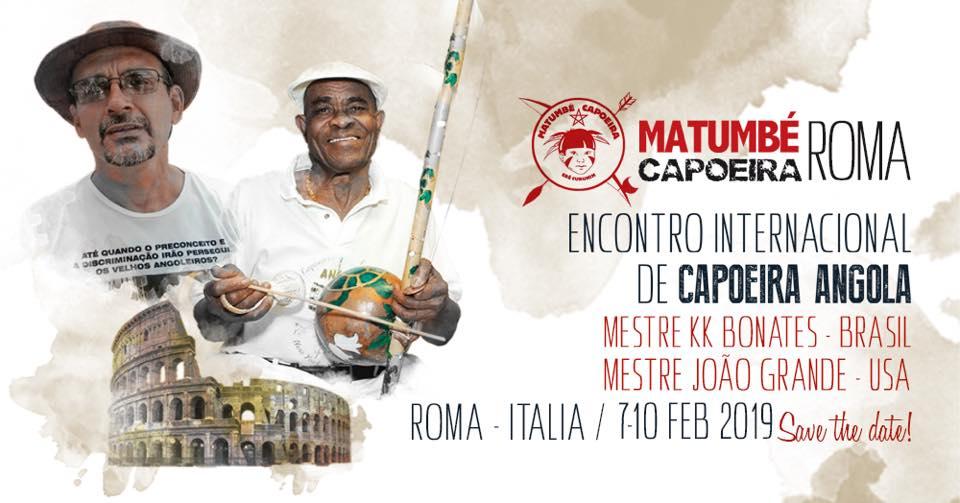 ROMA – Encontro Internacional de Capoeira Angola 2019